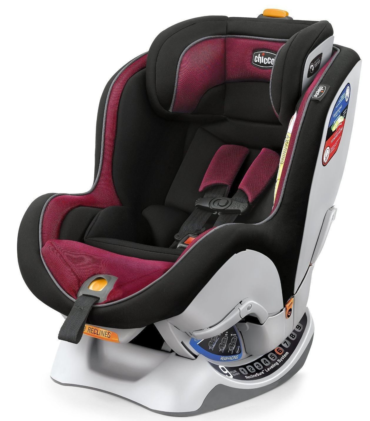 Chicco NextFit Convertible Child Safety Easy Install Car Seat Saffron