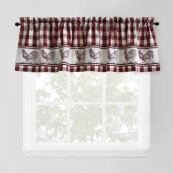 Park B Smith Provencal Rooster Tier Window Valance 60 X 14