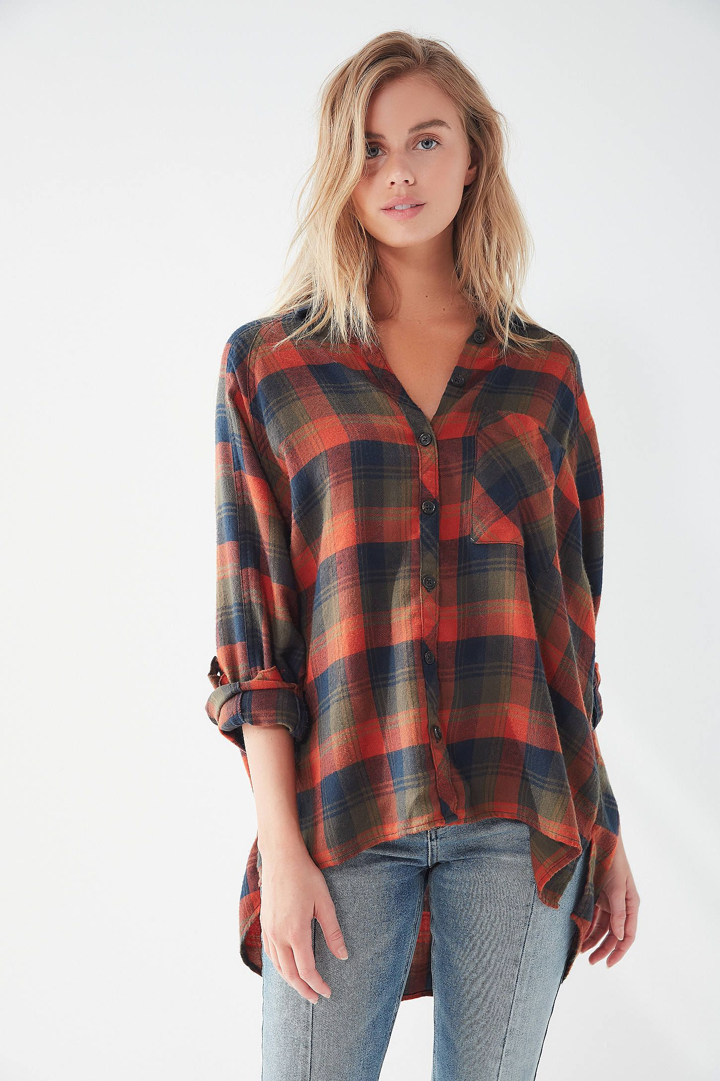 7b6cc83b UO Brendan Drapey Flannel Button-Down Shirt in 2019 | Urban #2 ...