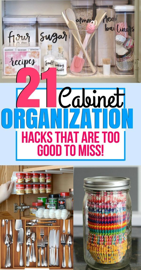 21 Genius Ways to Organize Your Kitchen Cabinet #cabinetorganization