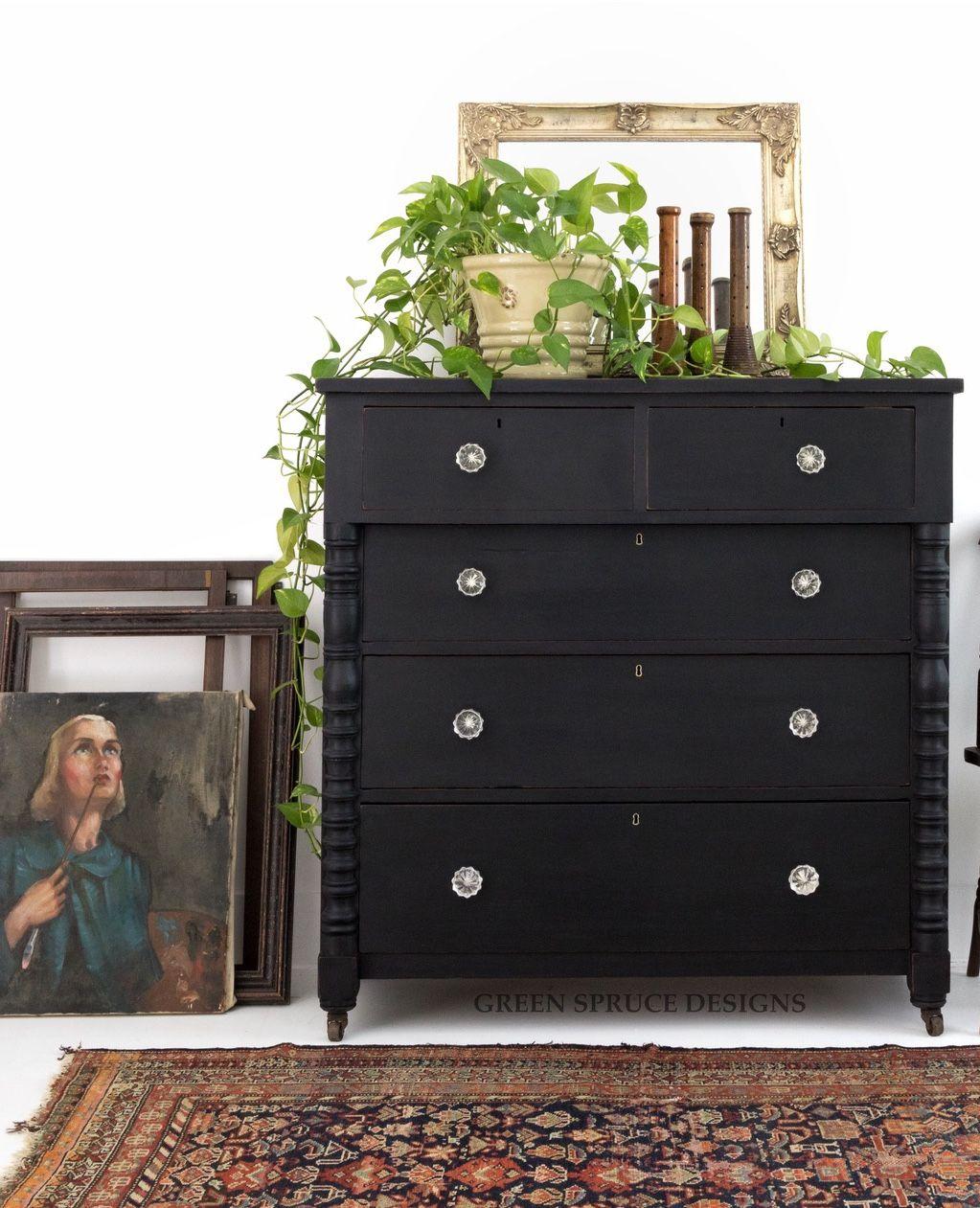 Black Chalk Paint Athenian Black Annie Sloan Black Chalk Paint Furniture Black Chalk Paint Black Painted Furniture