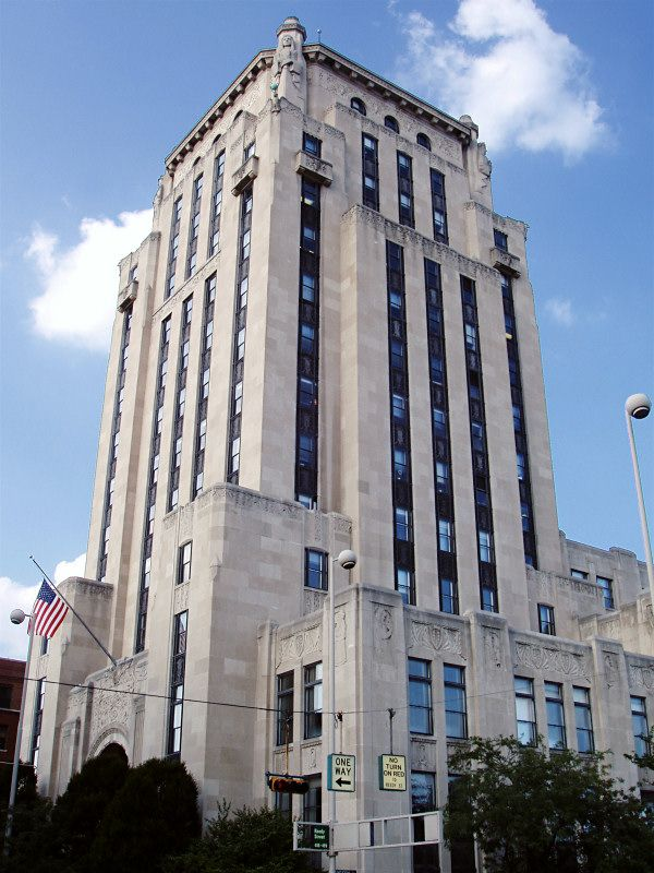 Hamilton County courts in Cincinnati, Ohio is an Art Deco