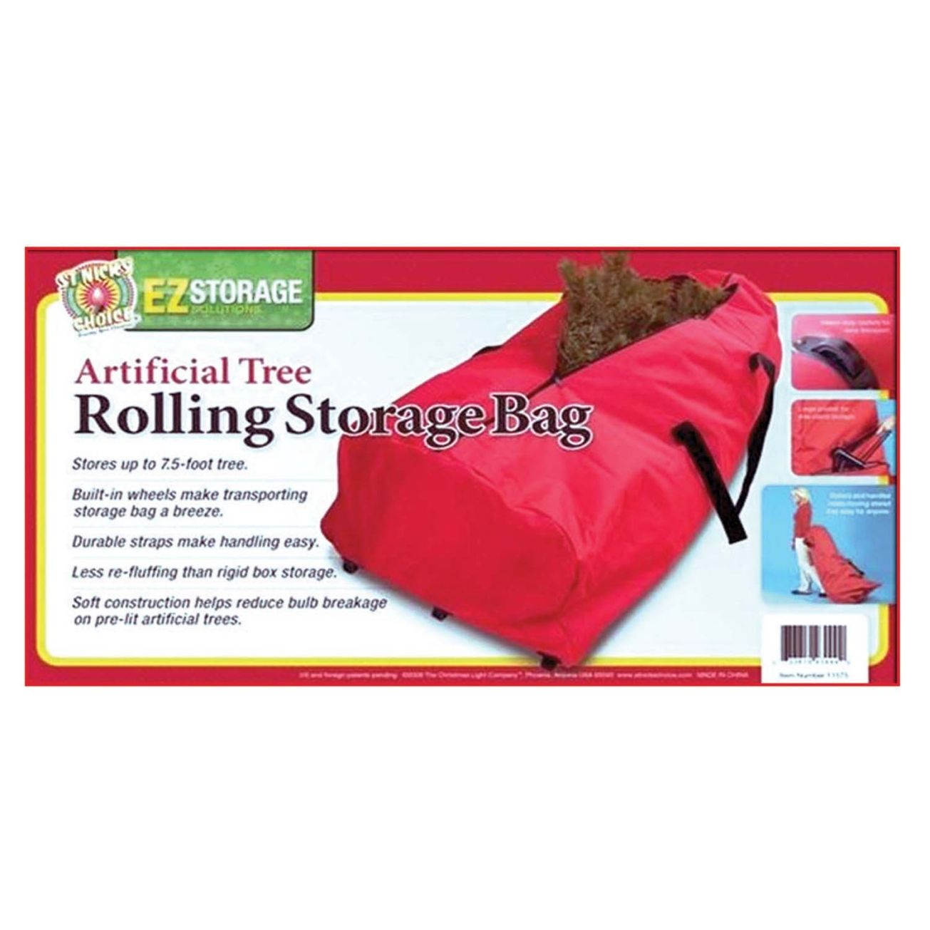 Christmas Tree Storage Bag With Wheels Inspiration Rolling Tree Storage Bag 11575106  Decoration Holders & Storage Decorating Design