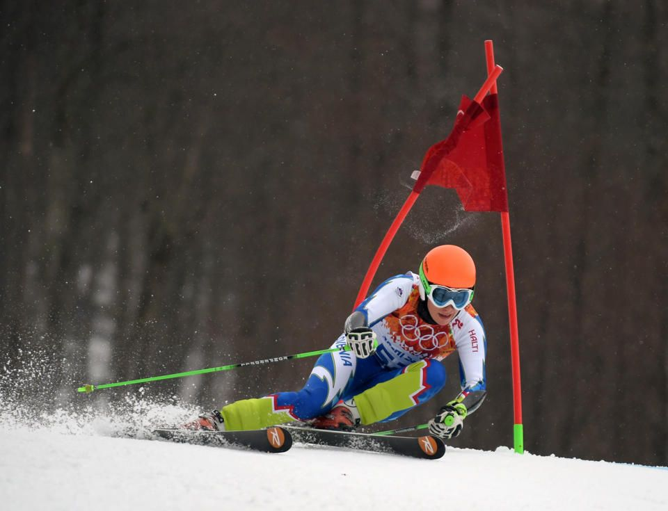 DAY 12:  Ilka Stuhec of Slovenia competes during the Alpine Skiing Women's Giant Slalom http://sports.yahoo.com/olympics