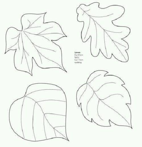 Yaprak Sablonlari Yaprak Aplike Sablonlari Sonbahar Suslemeleri