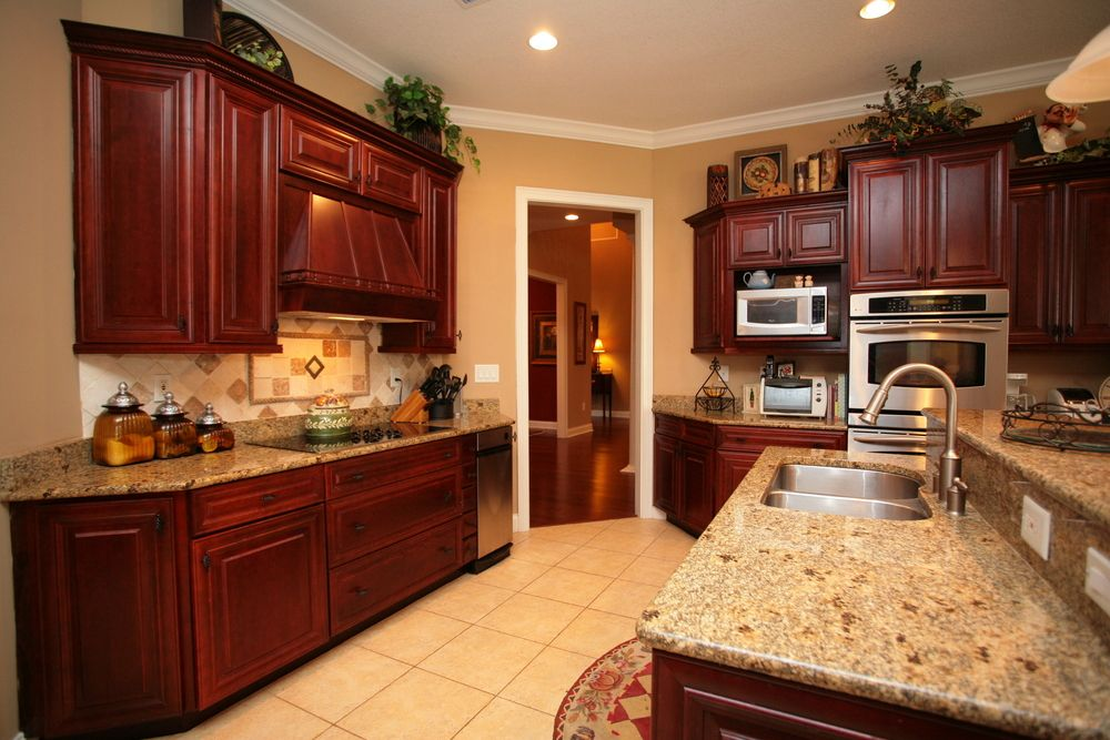 Eclectic Mix of 42 Custom Kitchen Designs Light granite