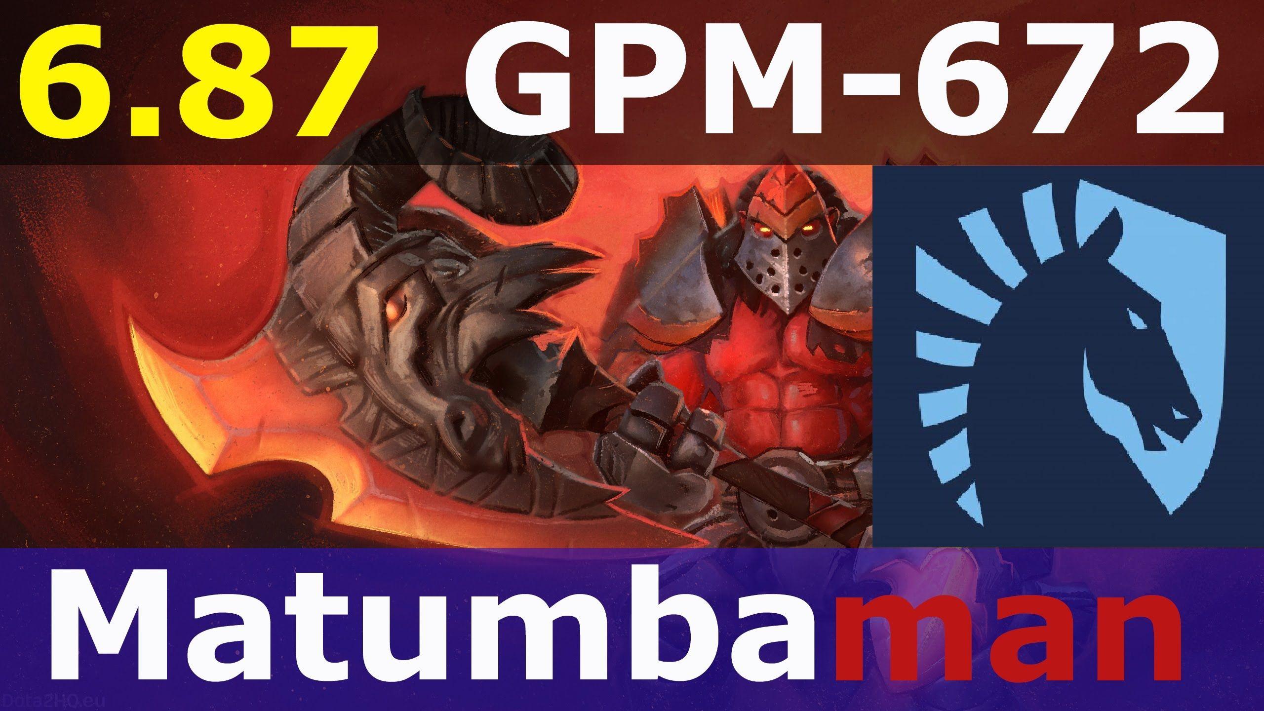 Axe dota 2 patch 6.87 Team Liquid Matumbaman 7700+ MMR 672 - GPM