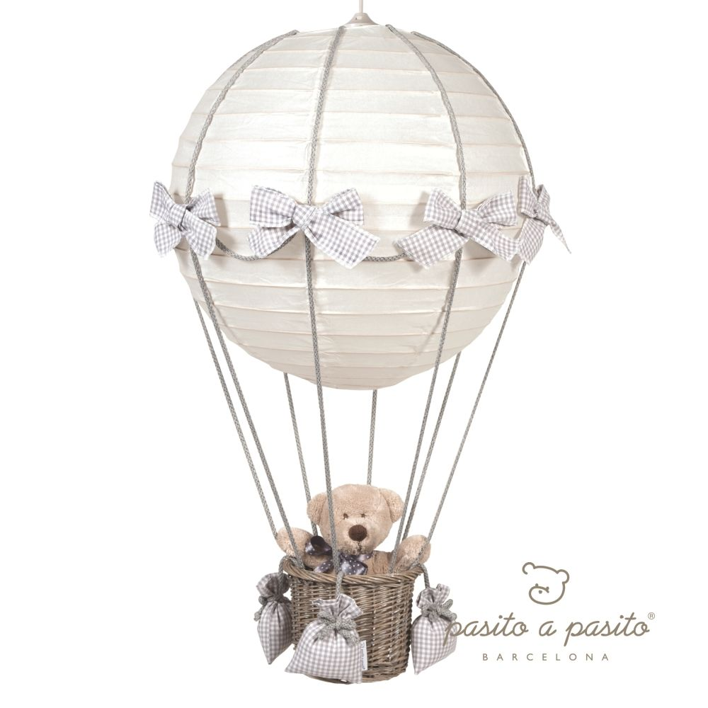 Pasito a Pasito Babyzimmerlampe Heissluft Ballon Vichy grau bei ...