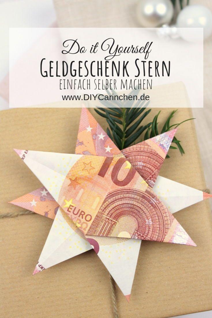 DIY - Origami Stern als Weihnachtsgeschenk