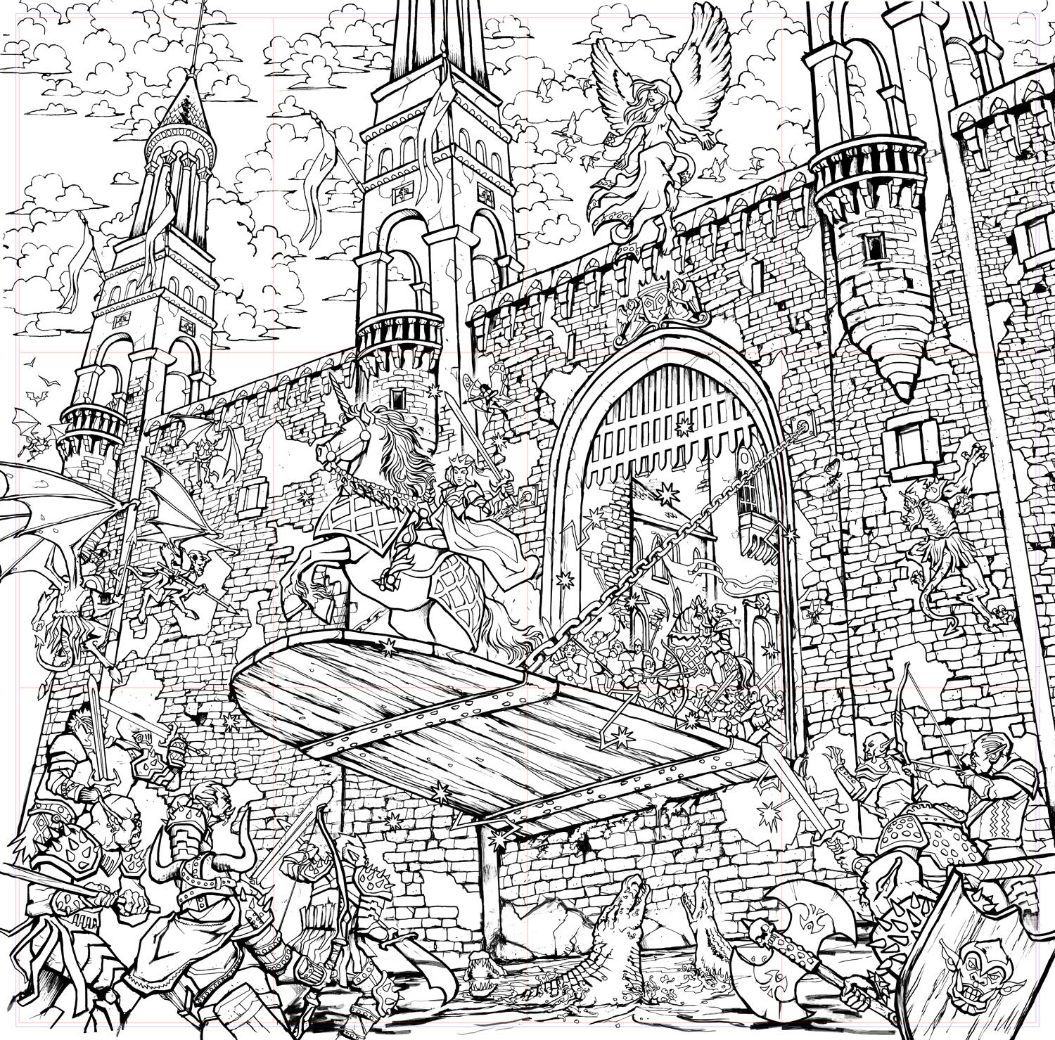 Deep Sky Studios Submission To Dover Publications Artist Arkady Free Coloring Pages