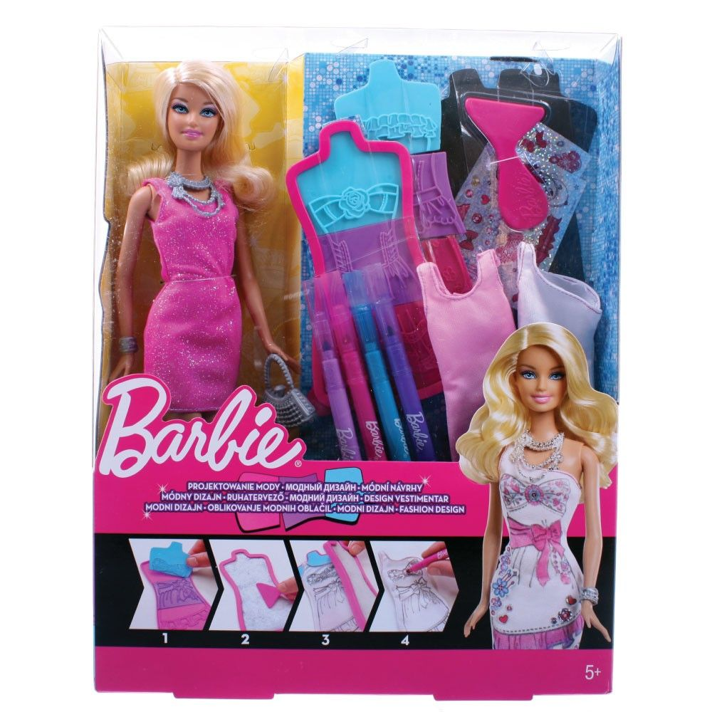 Barbie Fashion Design Plates Dress Doll Set Pops Toys Fashion Design Barbie Fashion Doll Dress