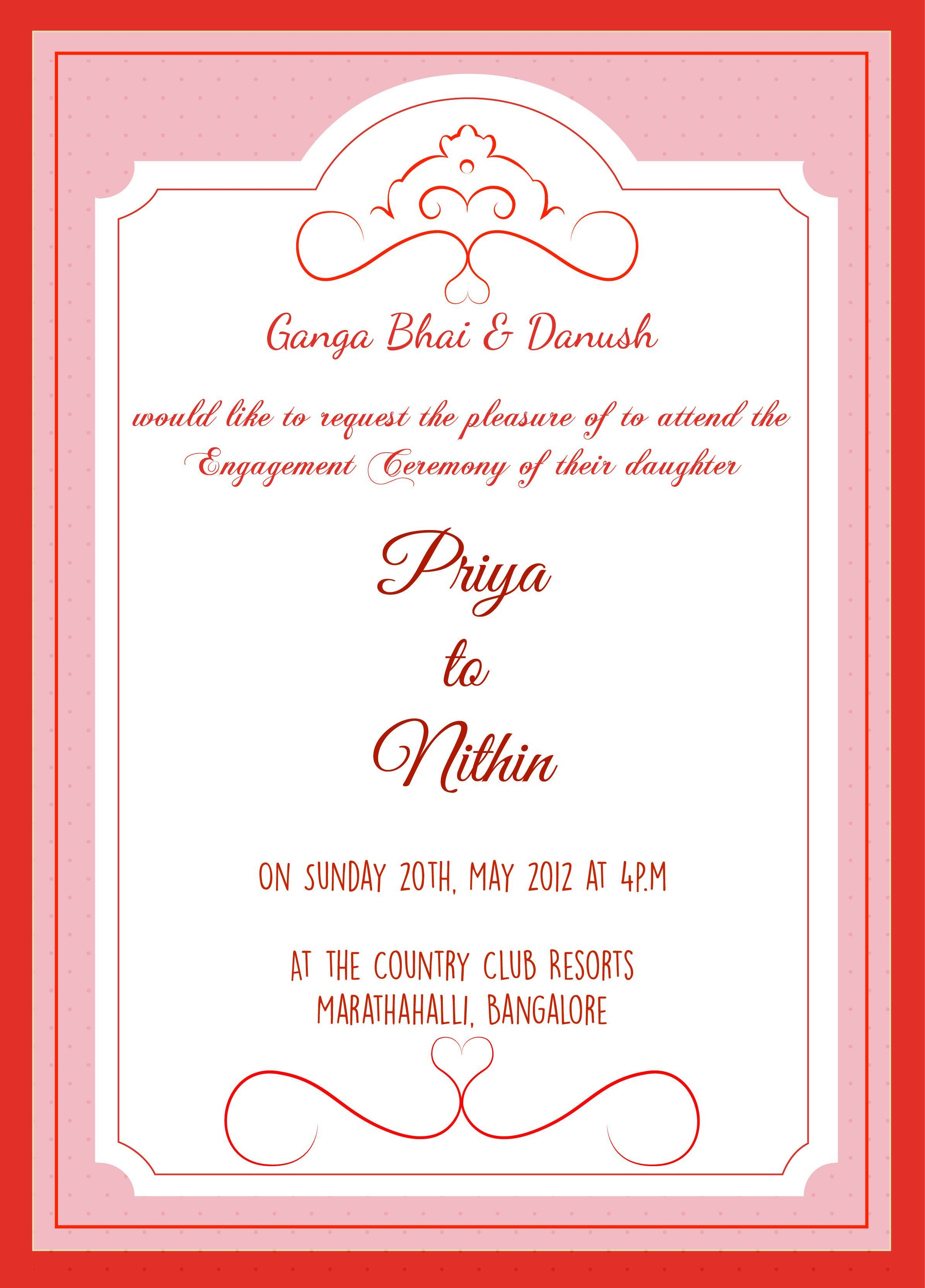 Daughter Marriage Invitation Message On Whatsapp  Engagement