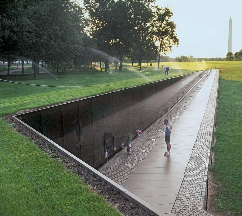 The Vietnam Memorial Was Designed By Maya Lin, Is Made Up Of Two