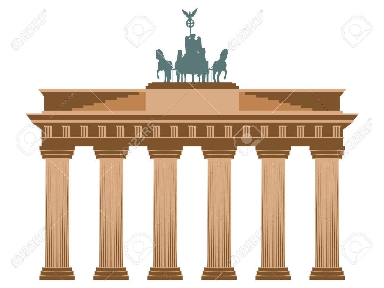 Brandenburg Gate In Berlin Isolated On White Background Illustration Affiliate Berlin Gate Brandenburg Isolated Illustration