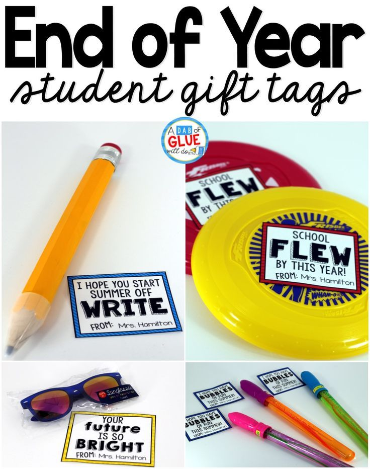 These end of your gifts and free printables are perfect for students or your kid's classmates.