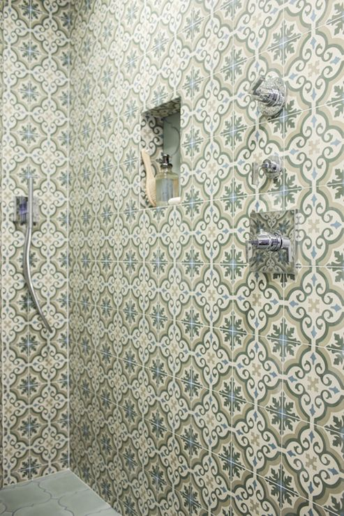 Moroccan Shower Tiles Mediterranean Bathroom Oxa Architecture Bathroom Interior Design Morrocan Tile Bathroom Shower Tile