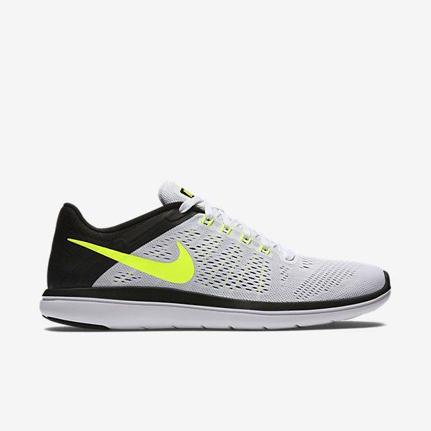 Nike Flex 2016 RN Mens Running Shoes 10 15 White Volt Black 830369 101 #Nike