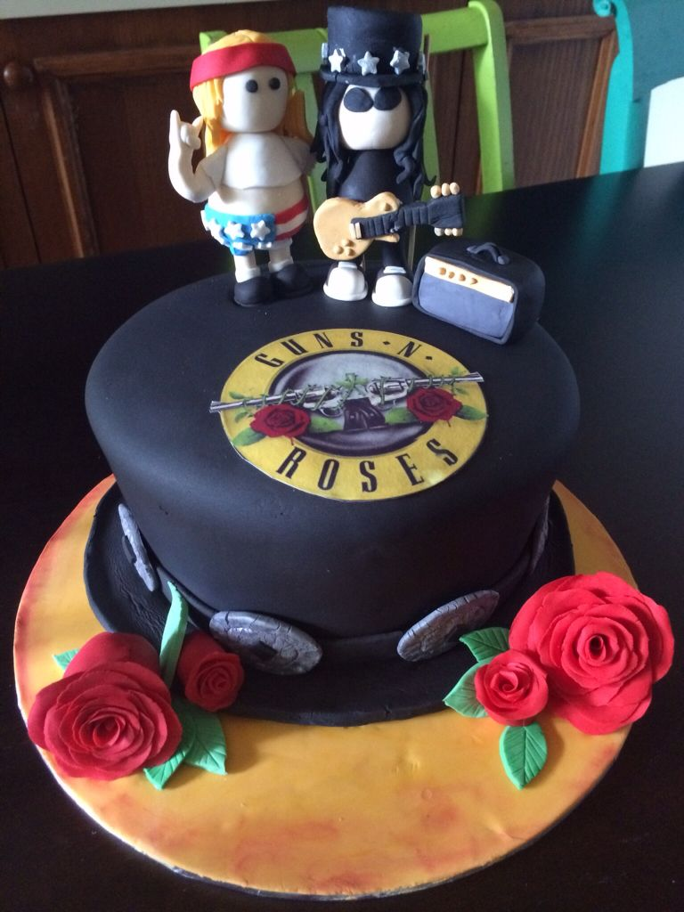 My Guns N Roses Cake Baby Rose Cake Cake Y Cake Recipes