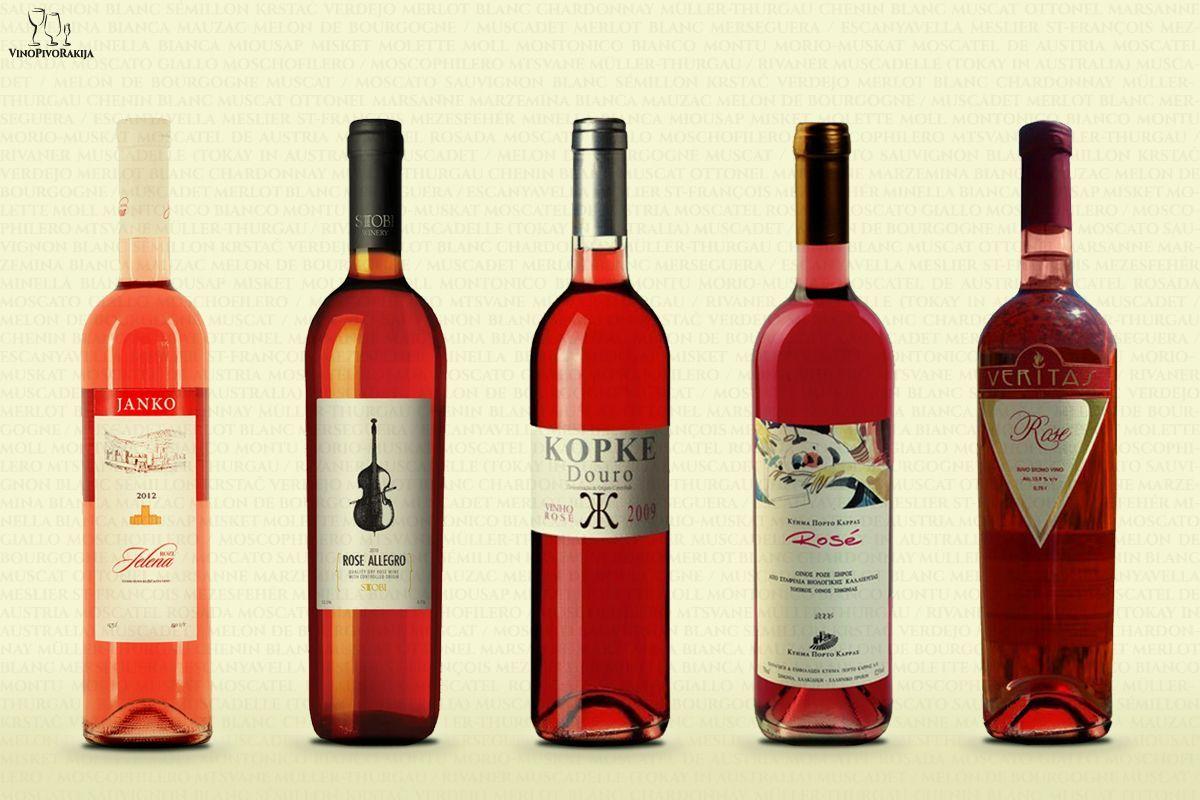 Degustacija Roze Vina Vino Br 1 Jelena Podrum Janko Srbija Vino Br 2 Rose Vinarija Stobi Makedonija Vino Br 3 Vinho Ro Wine Bottle Rose Wine Bottle Wine