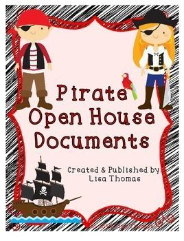 Pirate Themed Student Info Sheet Helping Hands And Sign In Sheet