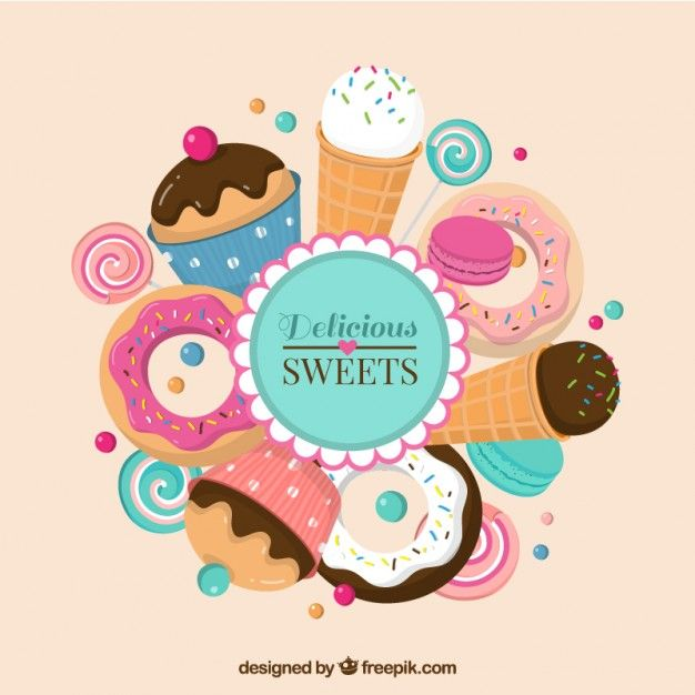Download Delicious Sweets   Cupcake logo, Logo cookies, Bakery ...