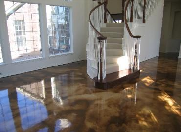 Acid Stain Concrete Home Renovation... Beautiful In Basement Finish Or  Outside Patio