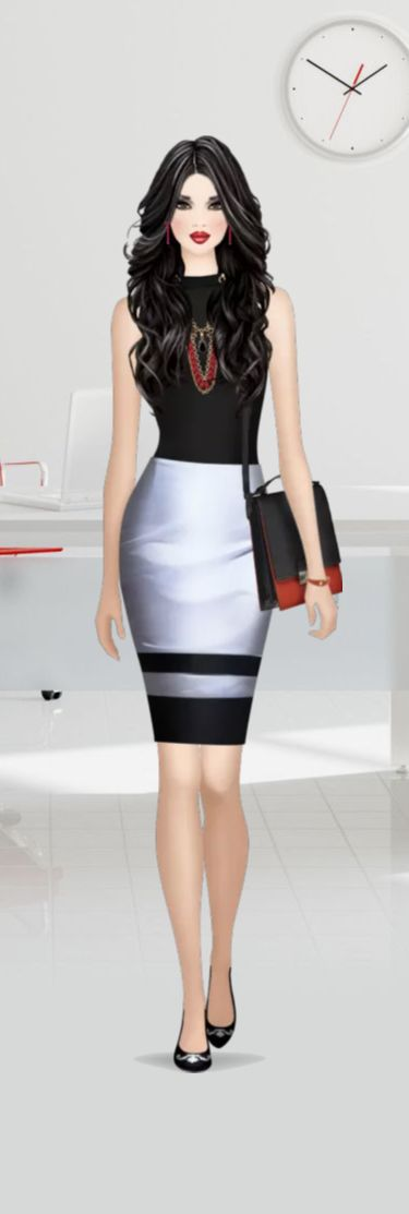 Covet Fashion Game Red Hot Career Five Star Winning Look by JustPeachy