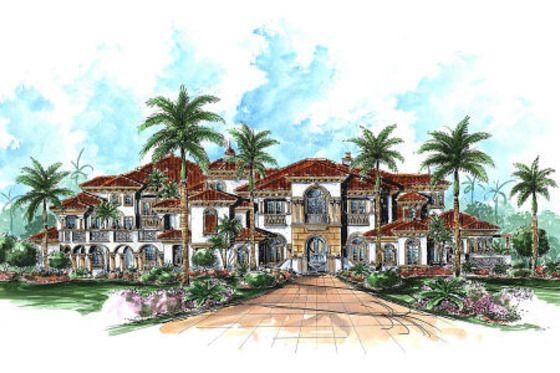Mediterranean Style House Plan 6 Beds 7 5 Baths 11672 Sq