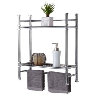 @Overstock.com   Chrome Wall Mount Or Countertop Shelf   The Chrome  Furniture Compliments