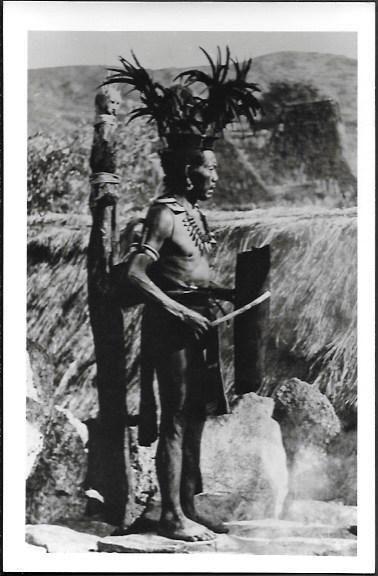 Philippines Cordillera Igorot Old Native Man old real photo 1950