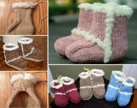 Knitted Striped Baby Booties Pattern Knitted Baby Baby Booties