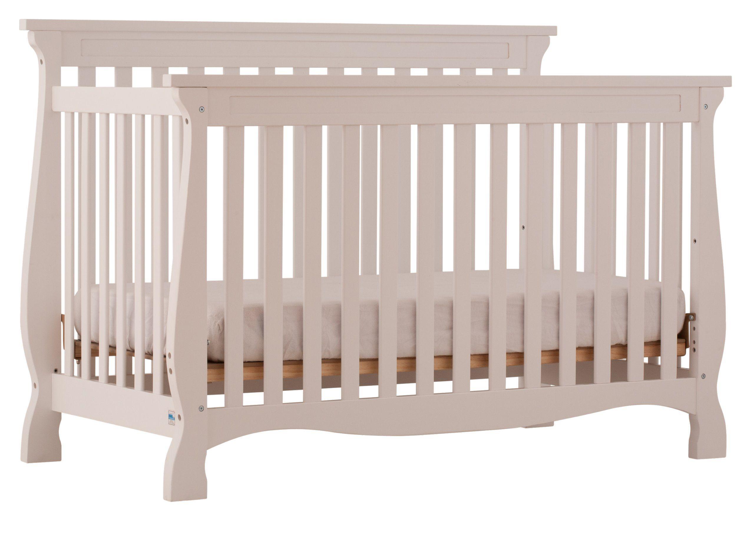 Amazon Com Stork Craft Carrara 4 In 1 Fixed Side Convertible Crib White Crib Stork Craft Carrera Baby Storkcraft Convertible Crib White Cribs