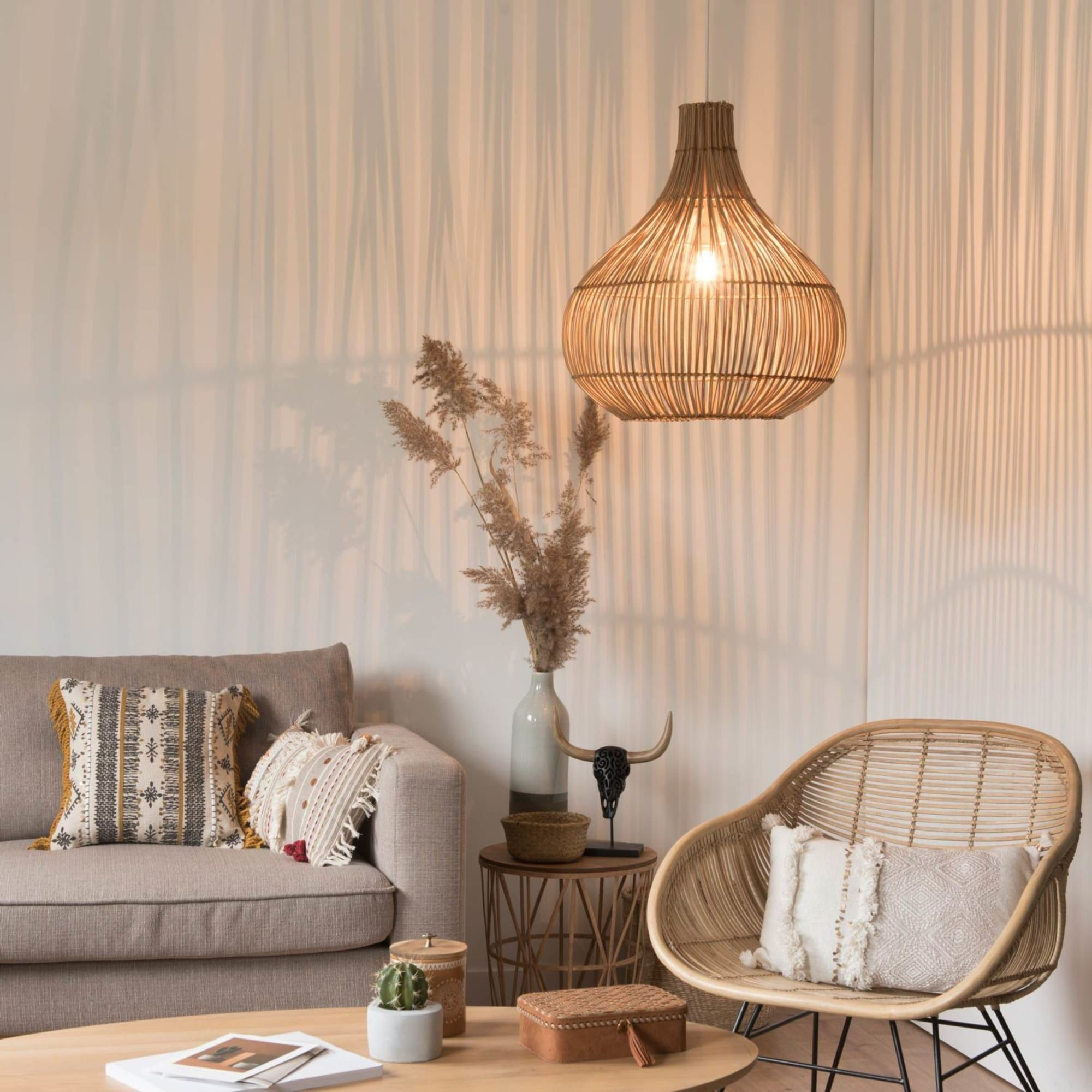 La Maison Du Monde Bilbao woven plant fibre pendant in 2020 | decor, soft furnishings