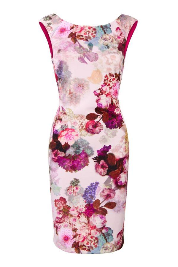 Kanten jurk met bloemmotief steps