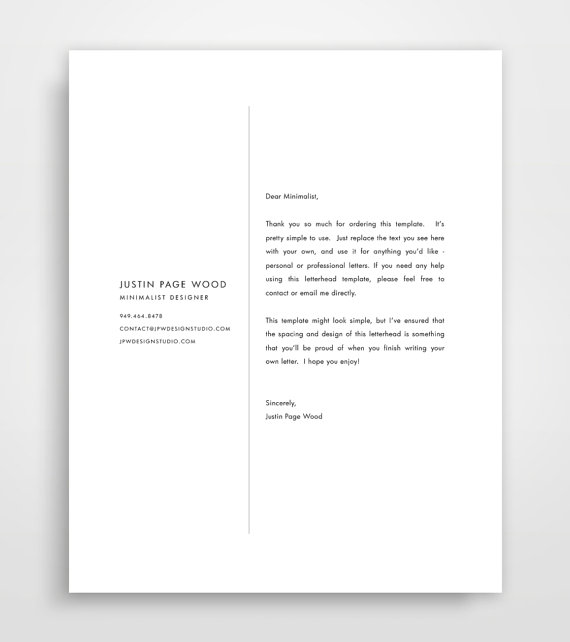 Business Letterhead Letterhead Template Custom by JPWDesignStudio - business letterhead