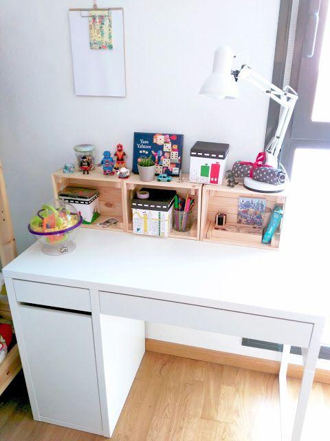 C mo hemos organizado y decorado el nuevo escritorio de for Escritorio infantil ikea