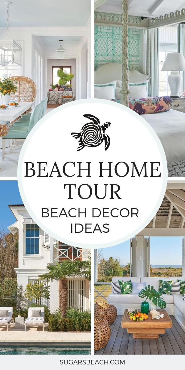 Sullivan Island Beach Home Tour Coastal Decorating Ideas Beach House Interior Modern Beach House Beach House Decor