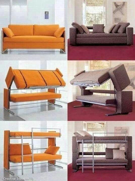 o verdadeiro sofá-cama!