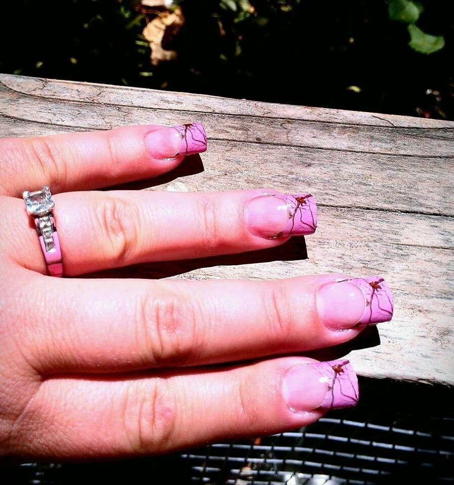 Pink realtree nails   Makeup/nails   Pinterest   Camo nails, Nail ...