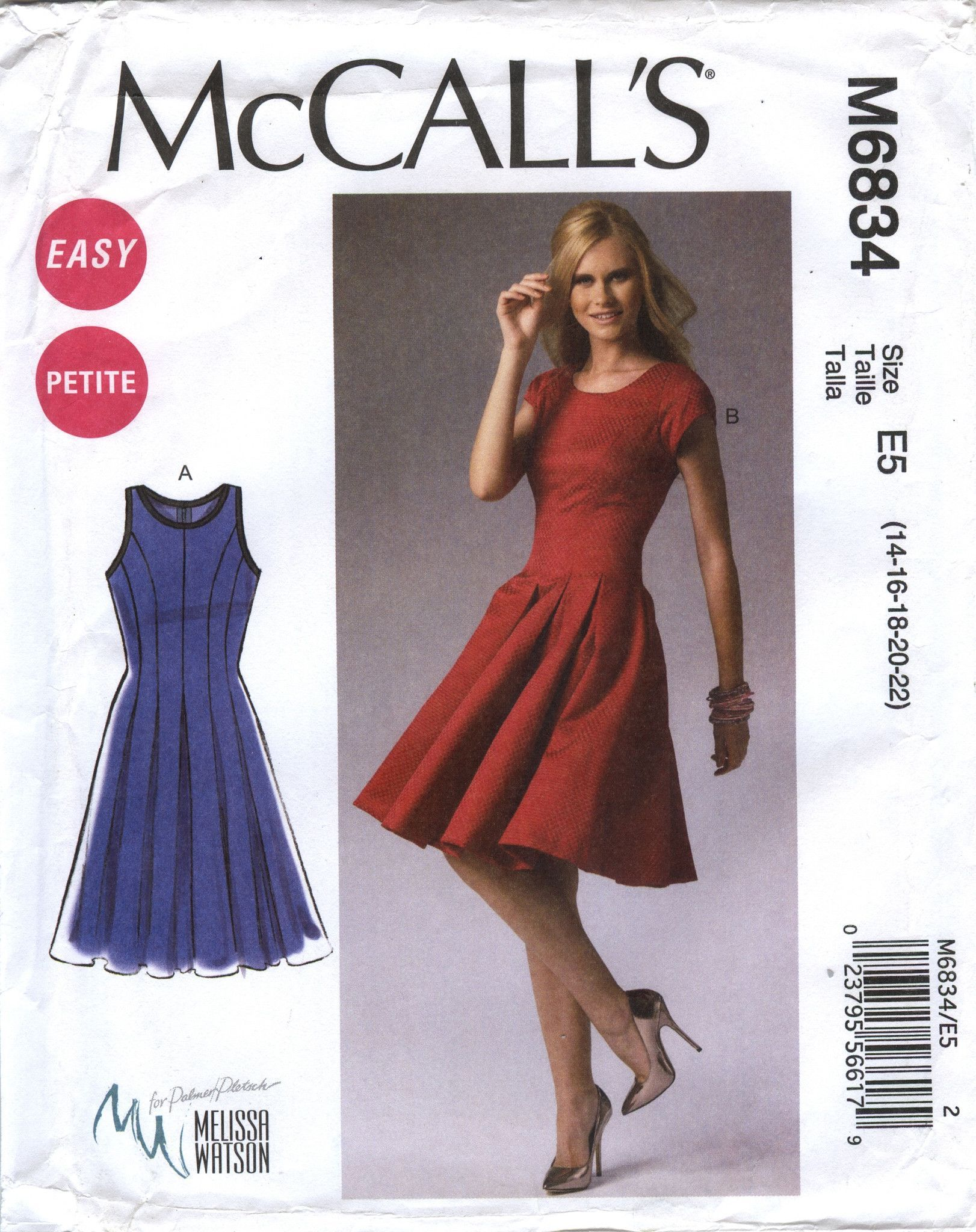McCall's 6834 Misses'/Miss Petite Dresses