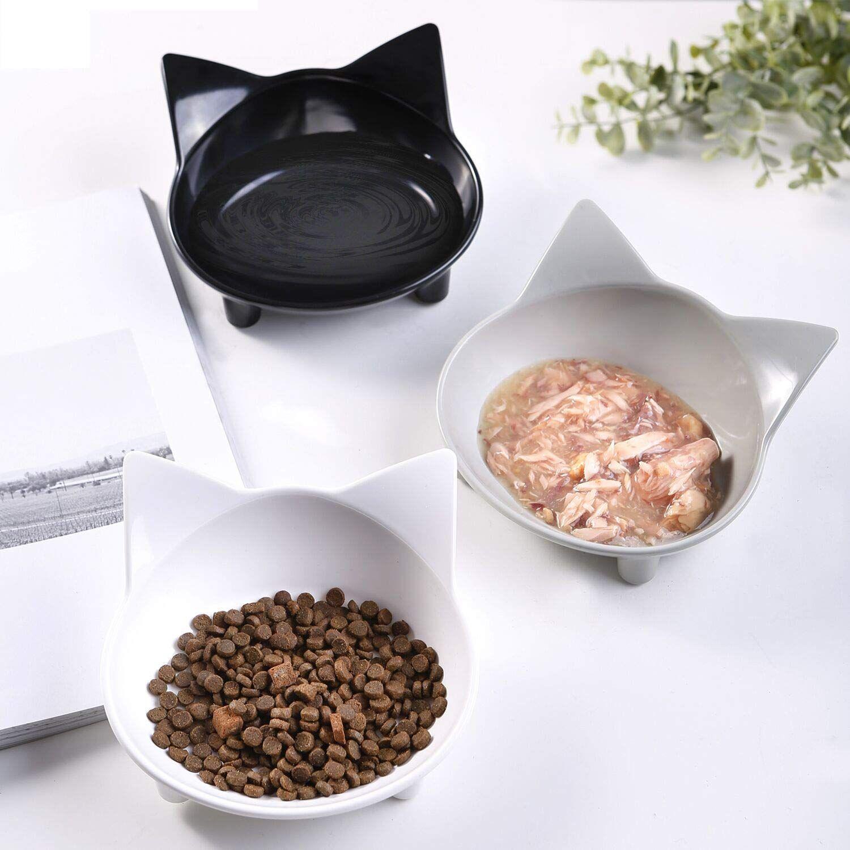 Cat bowls cat food bowls non slip cat double dish pet food