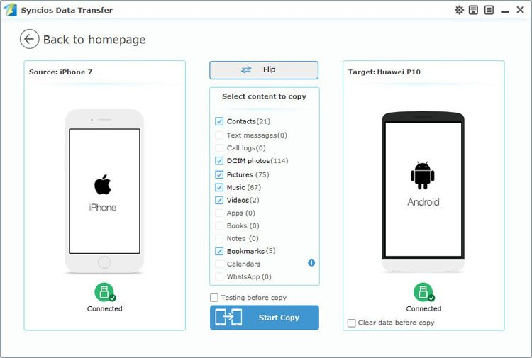 How to Transfer from iPhone 7/7 Plus to Huawei P10/P10