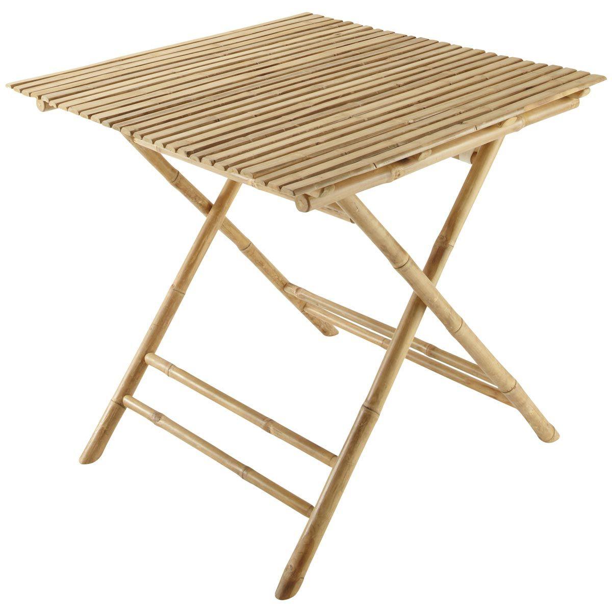 mesa plegable para jardn cuadrada bamb robinson