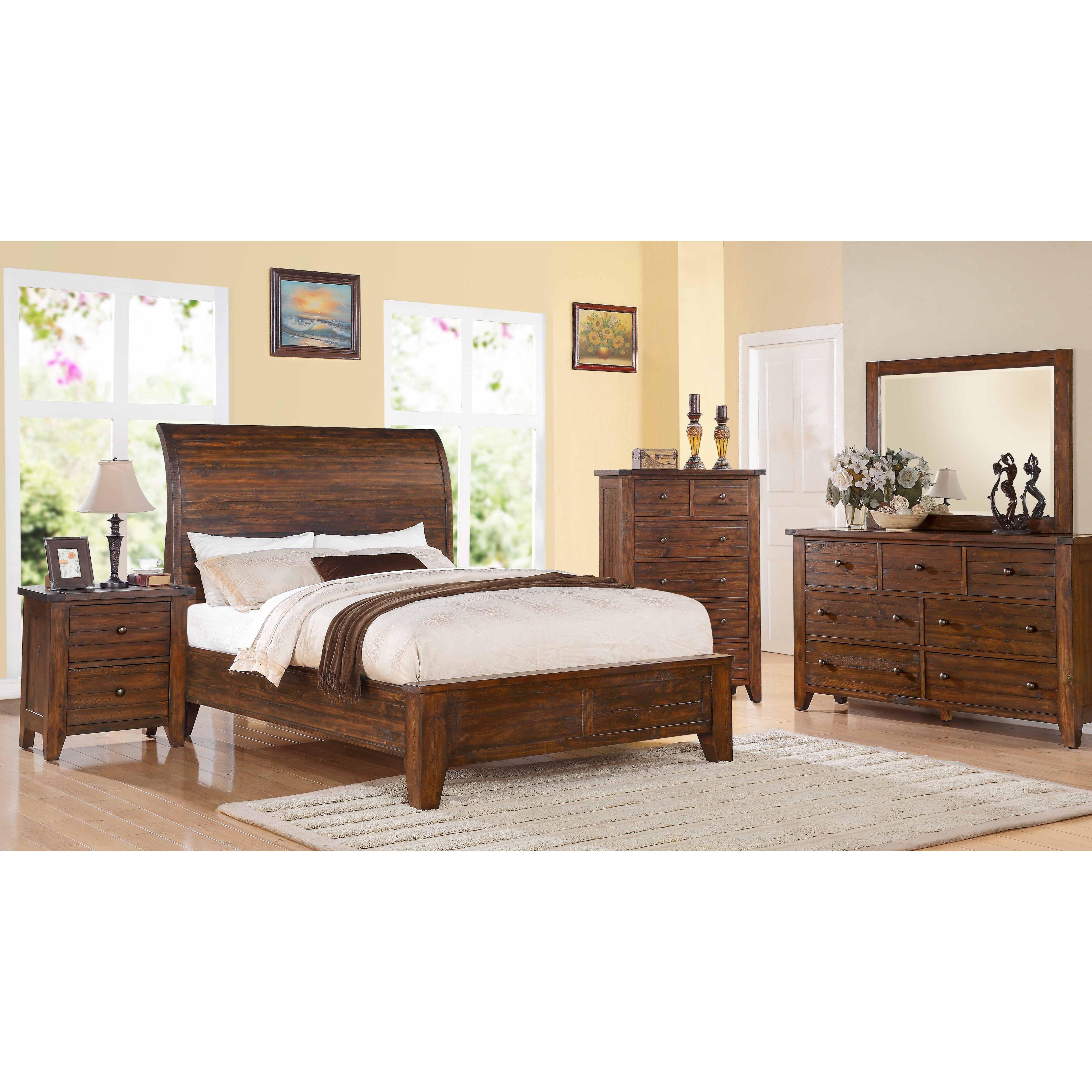 Modus Furniture Cally Sleigh Customizable Bedroom Set