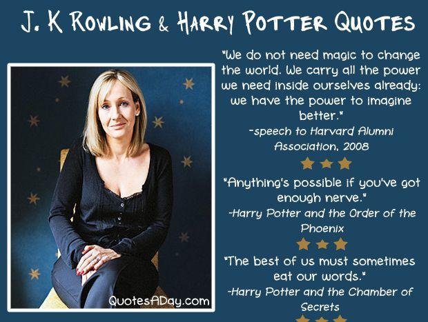 Jk Rowling Quotes Jkrowling Quotes  Sayingskristi Baicar Hilbrandt  Pinterest