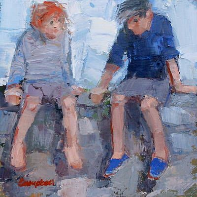 Scottish Artist Catriona CAMPBELL - Children on the Wall