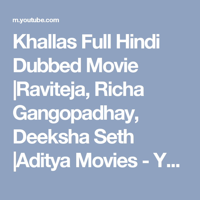 Khallas Full Movie In Hindi Dubbed Download Firefoxinstmank