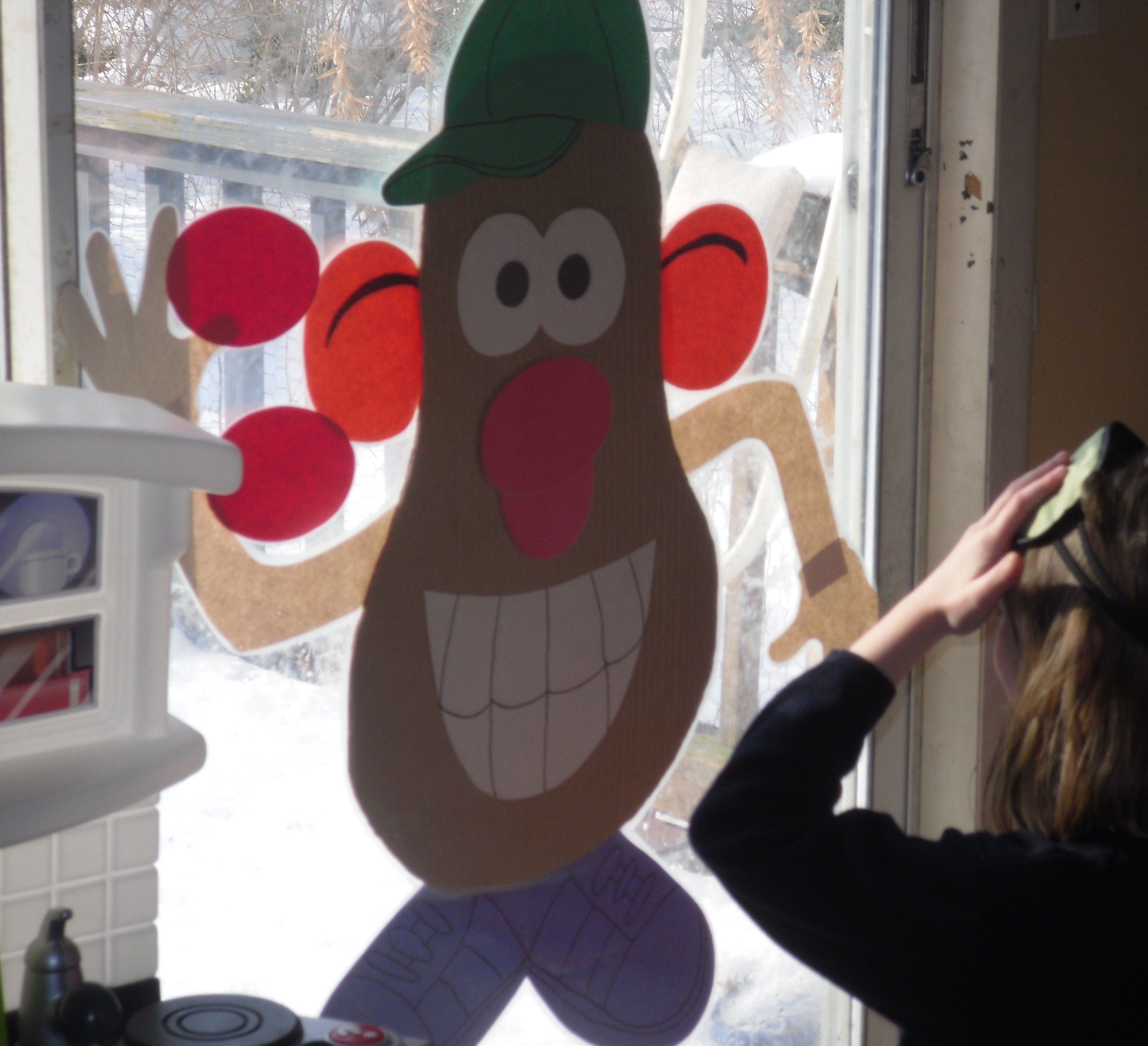 Toy Story Party game, Pin the nose or parts on Mr. Potato Head. Made ...