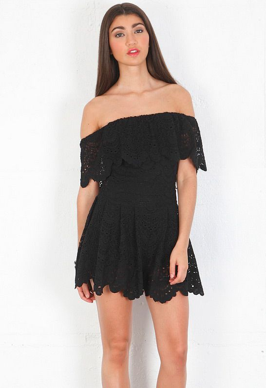 423bc82f2a Nightcap Clothing Poolside Playsuit in Black