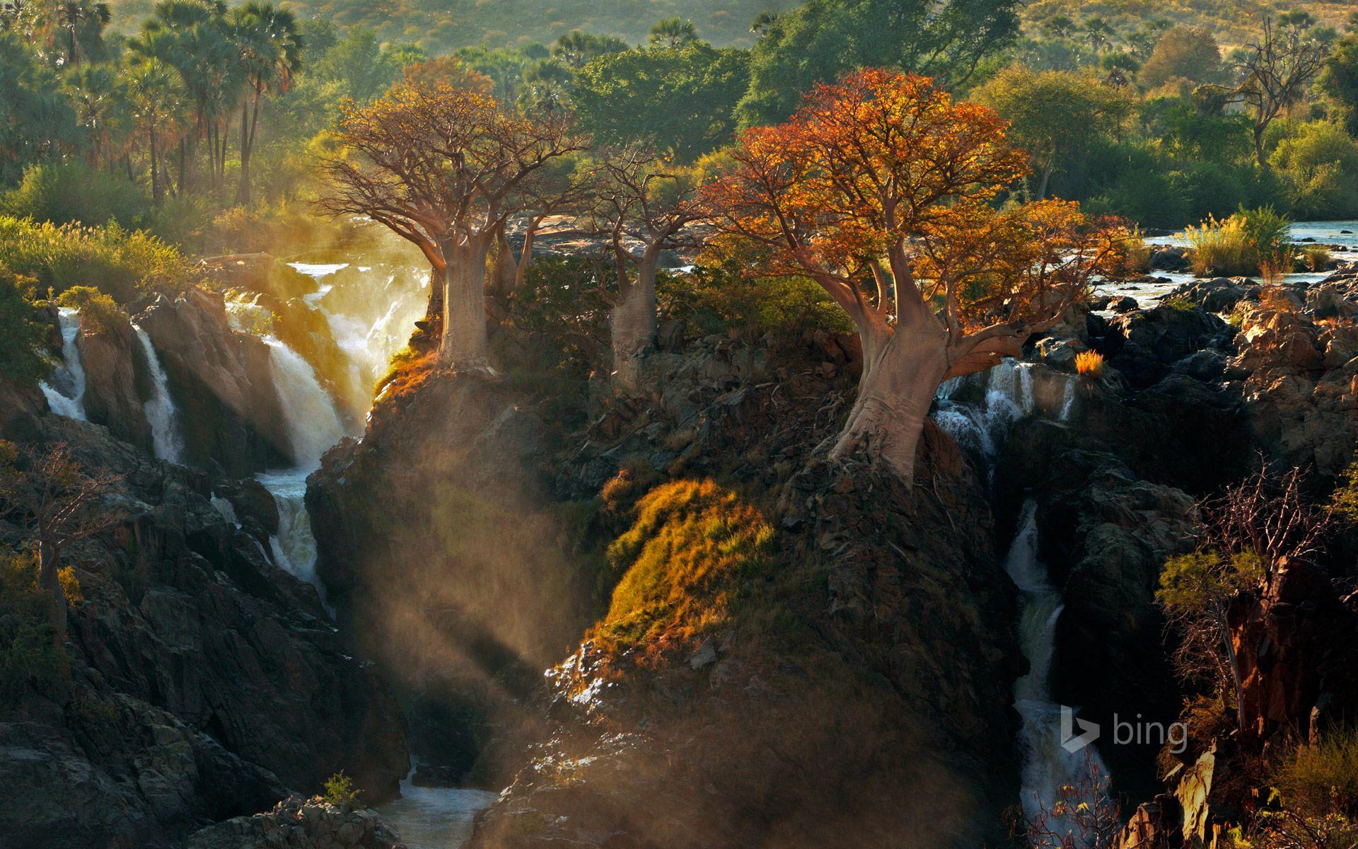 epupa falls | Epupa Falls between Angola and Namibia